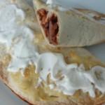 Tortilje, polnjene z mletim mesom in zelenjavo