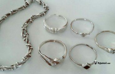Kako očistiti srebrn nakit