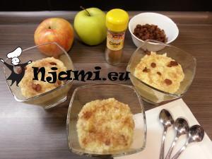 Kuhana prosena kaša z jabolki