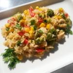 Piščančja rižota z zelenjavo
